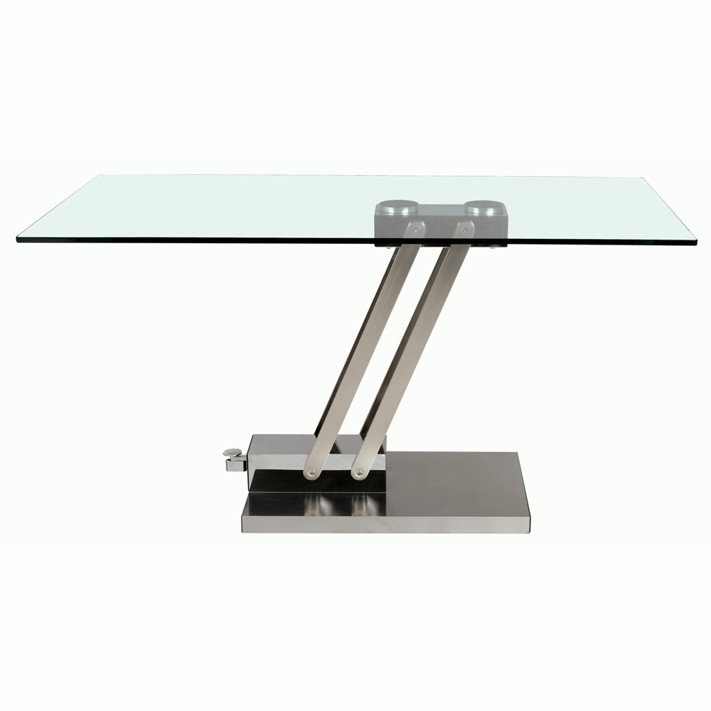 Chintaly Adjustable Height Cocktail Table CT - Adjustable height cocktail table