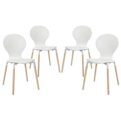 Modway - Path Dining Chair in White  Set of 4 - EEI-1369-WHI