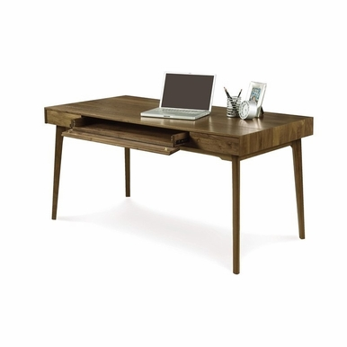 Copeland Furniture - Catalina Desk With Keyboard Tray in Natural Walnut - 3-CAL-10-04
