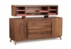 Copeland Furniture - Catalina Credenza And Organizer in Natural Walnut