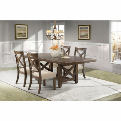 Picket House Furnishings - Francis X-Back Wooden Side Chair Set of 2  - DFK100XSC