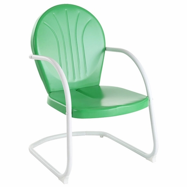 Crosley Furniture - Griffith Metal Chair in Grasshopper Green Finish  - CO1001A-GR