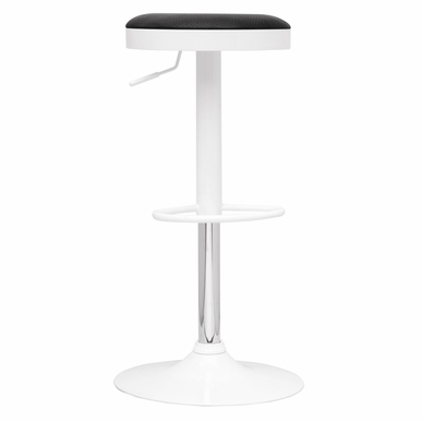 Chintaly - Pneumatic Gas Lift Adjustable Height Swivel Stool With Black Cover - 0317-AS