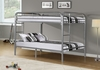 Monarch Specialties - Bunk Bed Full Full Size Silver Metal - I-2233S
