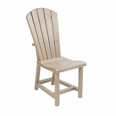CR Plastic Products - Generations Dining Adirondack Style Side Chair in Beige - C11-07