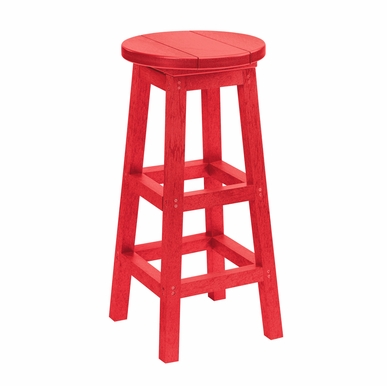 CR Plastic Products - Generations Dining Pub Style Barstool in Red - C21-01