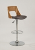 Chintaly - Plywood Open Back Pneumatic Stool - 1332-AS-BRW