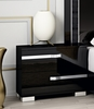 Athome USA - Volare 2/Drawer Night Table in Black Lacquer Finish - VOBBLCD01