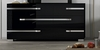 Athome USA - Volare 6/Drawer Double Dresser in Black Lacquer Finish - VOBBLCM01