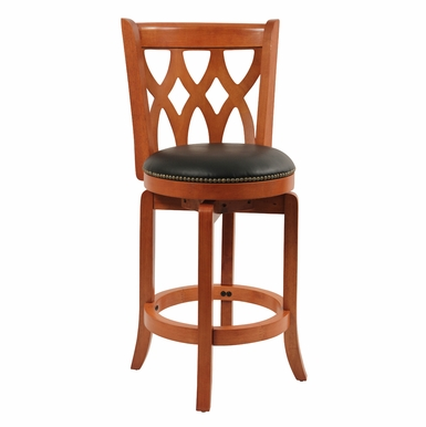 "Boraam - 24"" Cathedral Swivel Stool in Es Cherry - 40224"