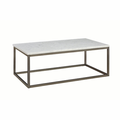 Palliser - Julien Rectangular Coffee Table With White Marble Top - 836-055_MBW-055