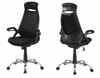 Monarch Specialties - Office Chair Black Mesh Chrome High Back Executive - I-7268