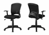 Monarch Specialties - Office Chair Black Mesh Mid Back Multi Position - I-7265