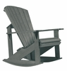 CR Plastic Products - Generations Adirondack Rocking Chair in Slate - C04-18
