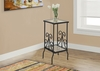 """Monarch Specialties - Accent Table 30""""H Black Metal With Tempered Glass - I-3159"""