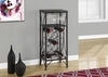 Monarch Specialties - Home Bar 40H Black Metal Wine Bottle And Glass Rack - I-3347