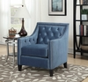 Picket House Furnishings - Teagan Accent Chair in Marine Blue - UTF291100