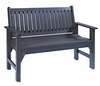 CR Plastic Products - Generations Garden Bench in Black - B01-14