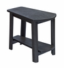 CR Plastic Products - Generations Tapered Style Accent Table in Black - T04-14