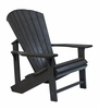 CR Plastic Products - Generations Adirondack Chair in Black - C01-14