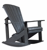 CR Plastic Products - Generations Adirondack Rocking Chair in Black - C04-14