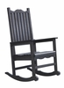 CR Plastic Products - Generations Casual Porch Rocker in Black - C05-14