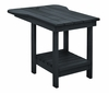 CR Plastic Products - Generations Tete A Tete Table in Black - A12-14