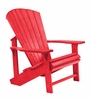 CR Plastic Products - Generations Adirondack Chair in Red - C01-01