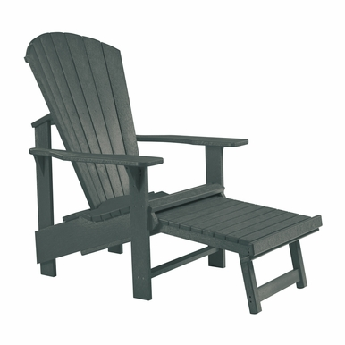 CR Plastic Products - Generations Upright Adirondack Chair in Slate - C03-18