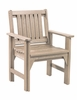 CR Plastic Products - Generations Dining Slat Back Style Arm Chair in Beige - C12-07