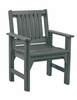 CR Plastic Products - Generations Dining Slat Back Style Arm Chair in Slate - C12-18