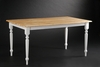 Boraam - Farmhouse Table in White and Natural - 70369