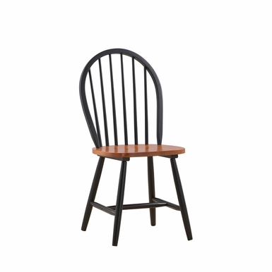 Boraam - Farmhouse Chair in Black and Cherry  Set of 2 - 31516