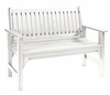 CR Plastic Products - Generations Garden Bench in White - B01-02