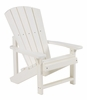 CR Plastic Products - Generations Kids Adirondack Chair in White - C08-02