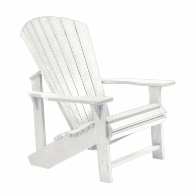 CR Plastic Products - Generations Adirondack Chair in White - C01-02