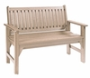 CR Plastic Products - Generations Garden Bench in Beige - B01-07