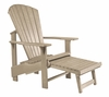 CR Plastic Products - Generations Upright Adirondack Chair in Beige - C03-07