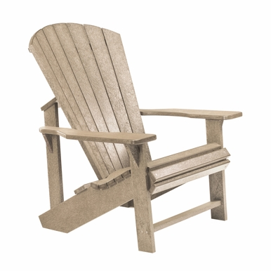 CR Plastic Products - Generations Adirondack Chair in Beige - C01-07