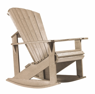 CR Plastic Products - Generations Adirondack Rocking Chair in Beige - C04-07