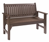 CR Plastic Products - Generations Garden Bench in Chocolate - B01-16