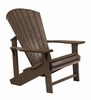CR Plastic Products - Generations Adirondack Chair in Chocolate - C01-16