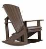 CR Plastic Products - Generations Adirondack Rocking Chair in Chocolate - C04-16