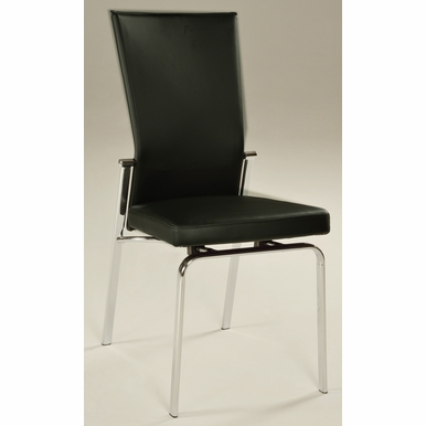 Chintaly - Molly Motion Back Side Chair Black  Set of 2 - MOLLY-SC-BLK