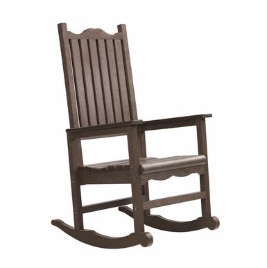 CR Plastic Products - Generations Casual Porch Rocker in Chocolate - C05-16