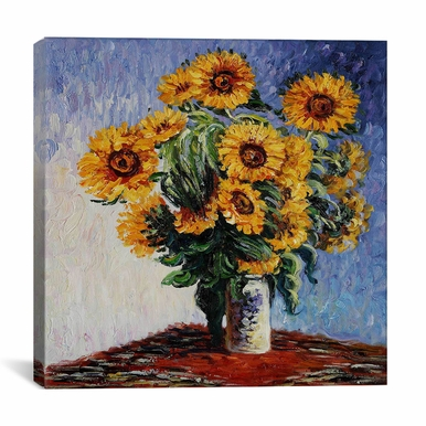 iCanvas - Claude Monet Sunflowers 37 X 37 - 1309-1PC3-37x37