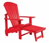 CR Plastic Products - Generations Upright Adirondack Chair in Red - C03-01