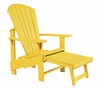 CR Plastic Products - Generations Upright Adirondack Chair in Yellow - C03-04