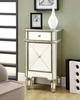 Monarch Specialties - Mirrored 1 Drawer Accent Cabinet - I 3702