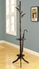 Monarch Specialties - Cappuccino Solid Woood Coat Rack With An Umbrella Holder - I 2005